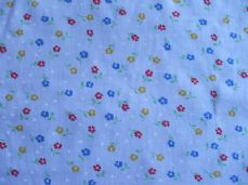 Small Flower Print Polycotton Fabric